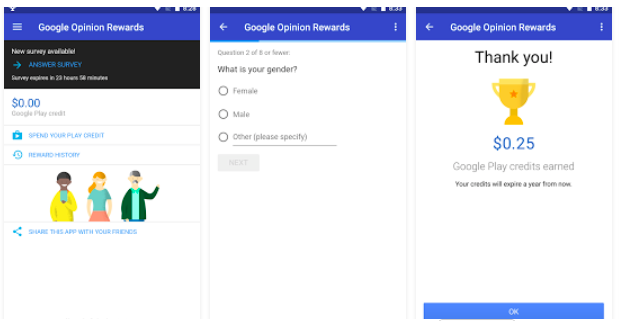 Make Money Using Your Smartphone: Google Opinion Rewards App
