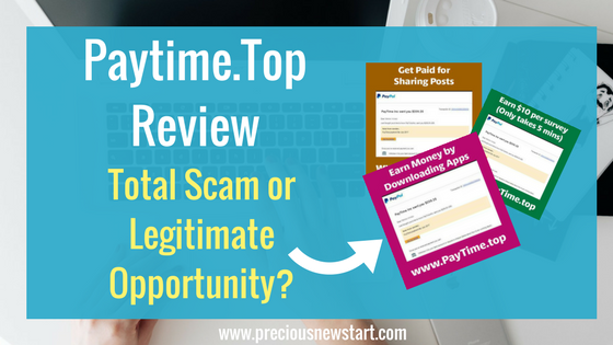 Paytime Top Review - Total Scam or Legit Opportunity