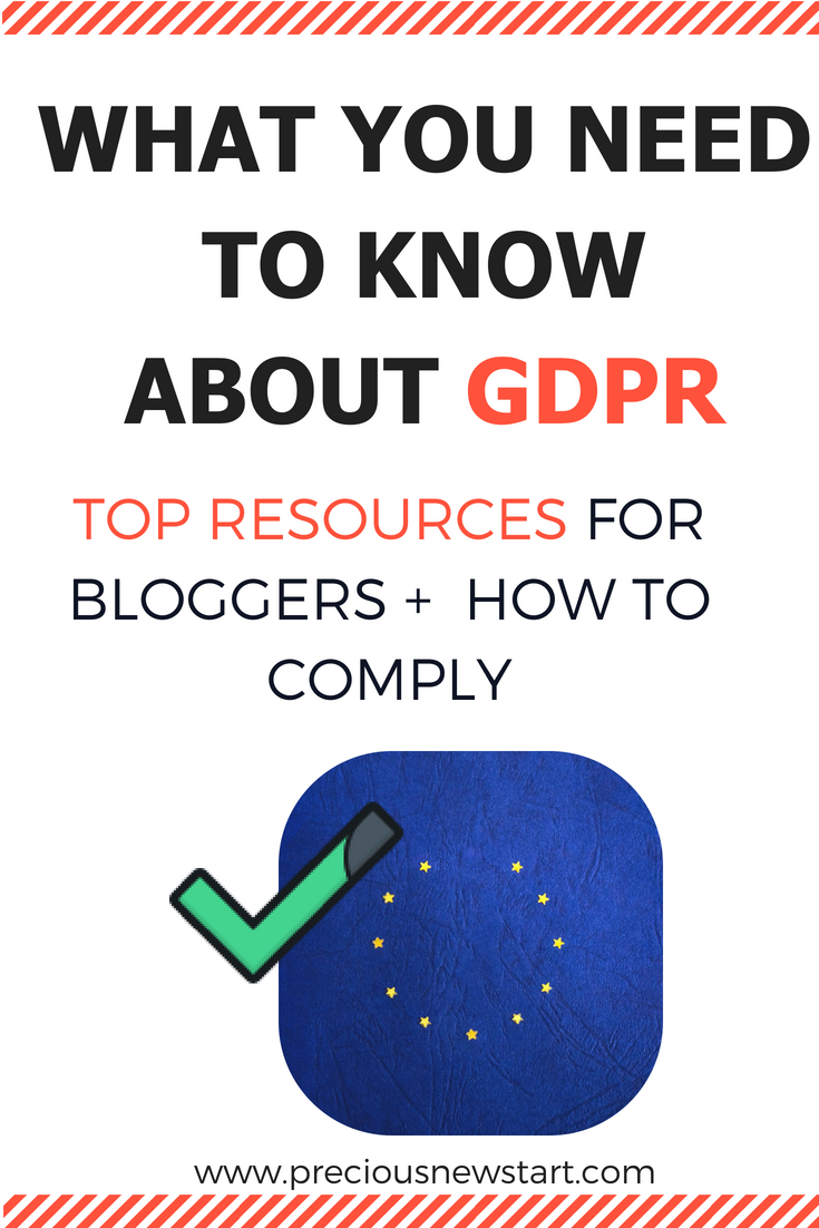 gdpr for bloggers pin
