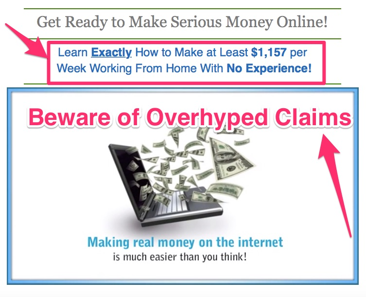 beware of overhyped key affiliate marketing scams