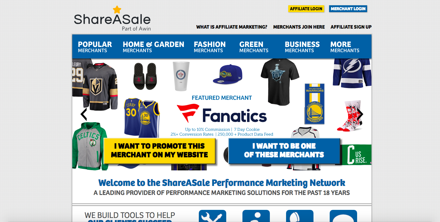 the best affiliate programs to promote shareasale
