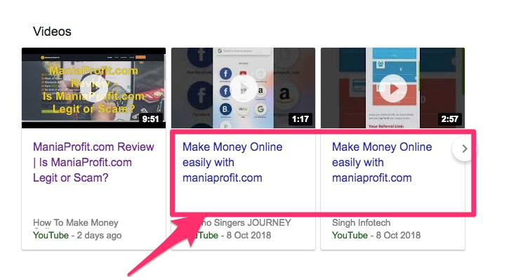 is maniaprofit.com a scam promoting youtube video same info