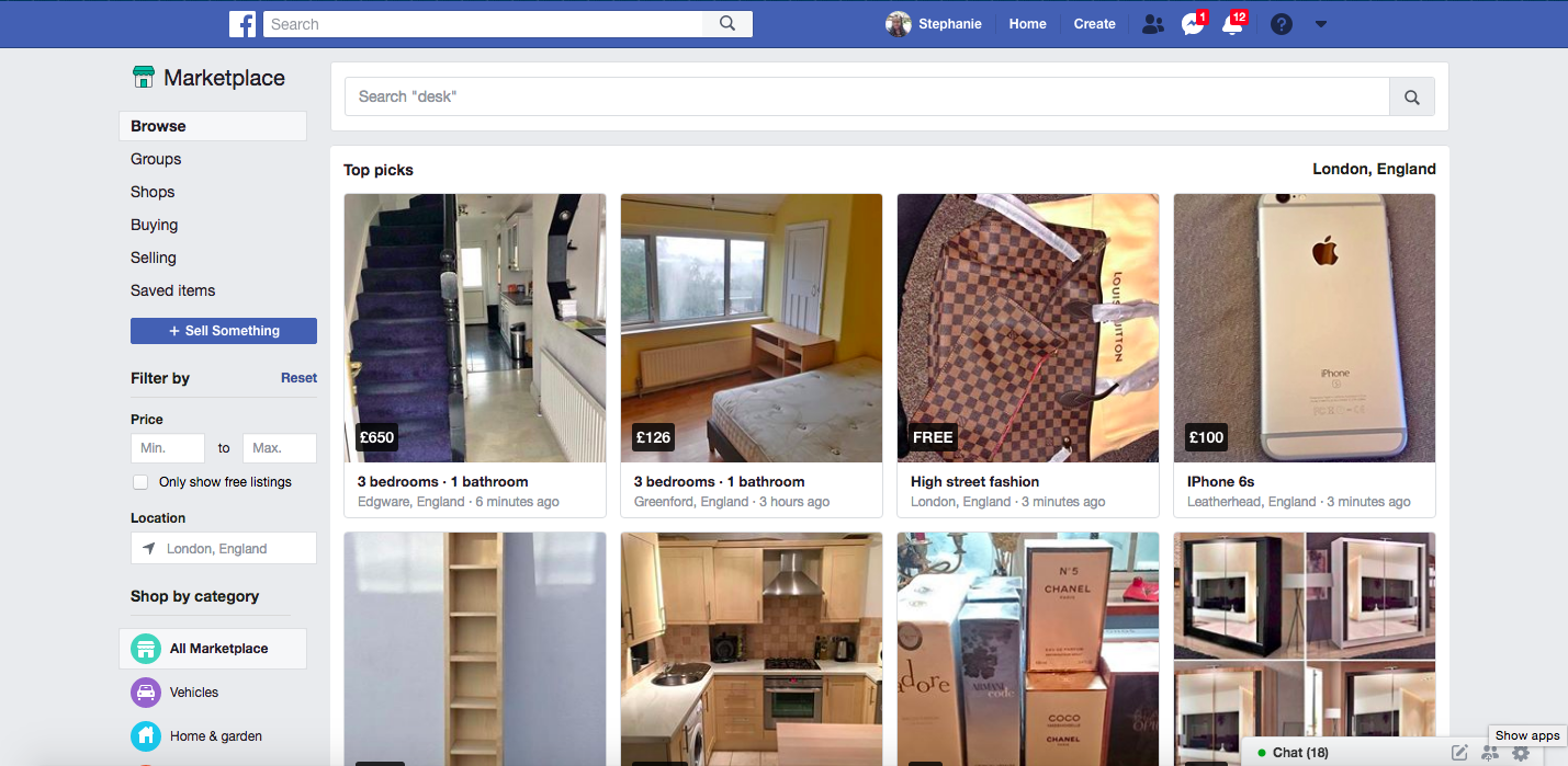 sell your used clothes online with Facebook marketplace
