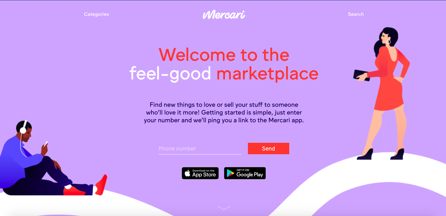 sell your used clothes online with mercari
