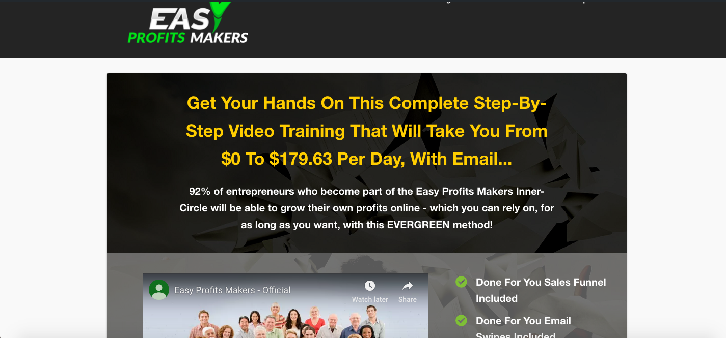 easy profits makers review home