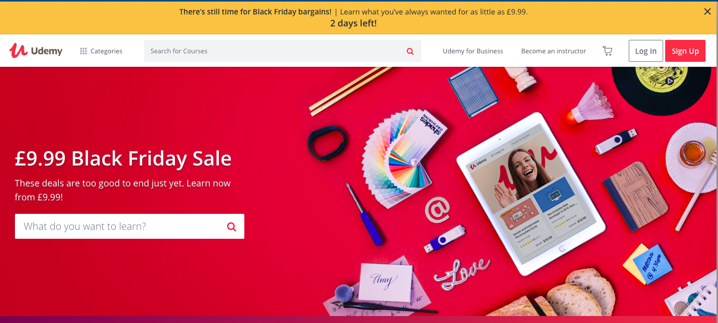 best black friday deals for bloggers udemy