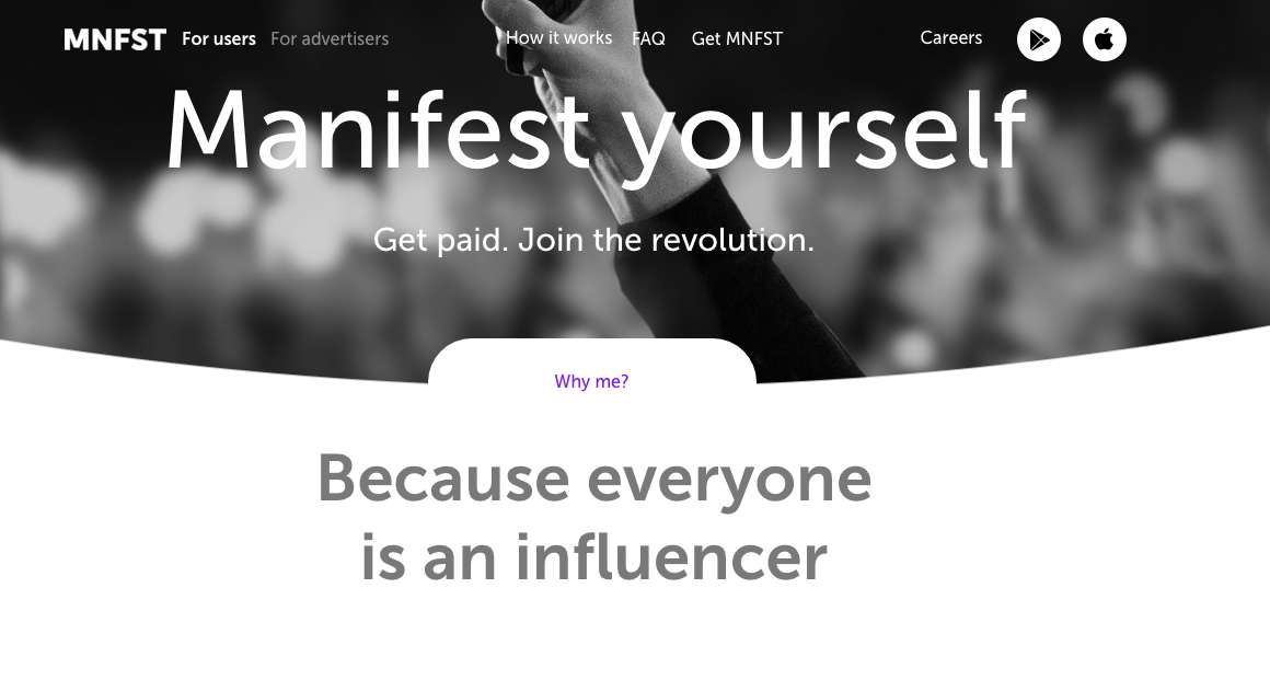 get paid through social media with manifest app mnfst app