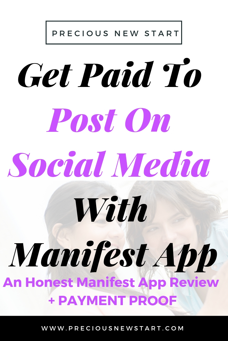 get paid through social media with manifest app pin
