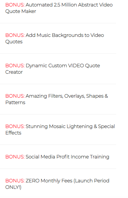 what is socifeed bonuses