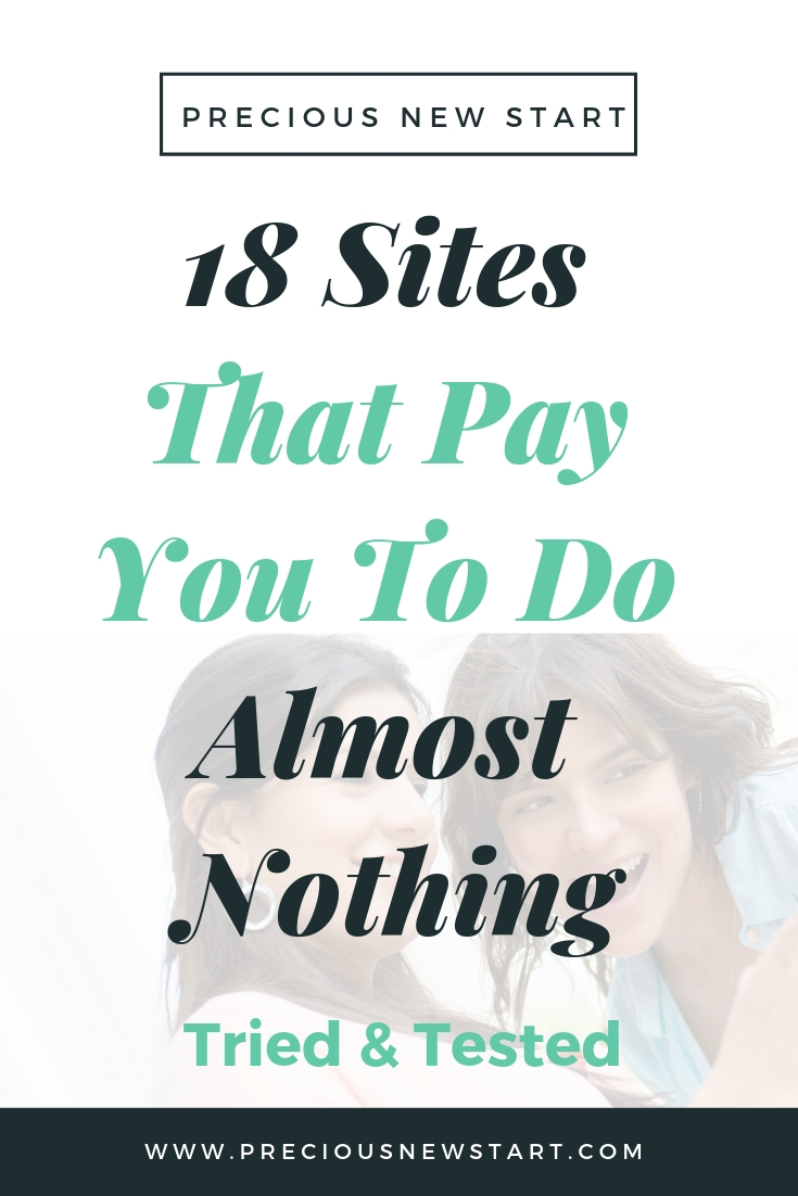 sites that pay you to do almost nothing online
