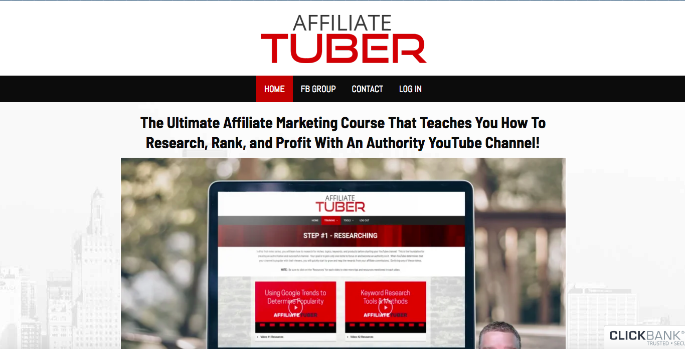 affiliatetuber review sales page