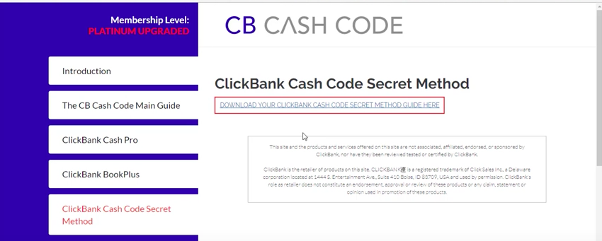 cb cash code review what's inside