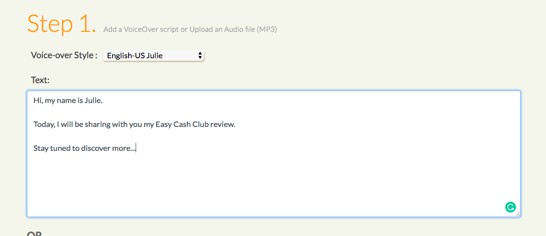 easy cash club review step 1