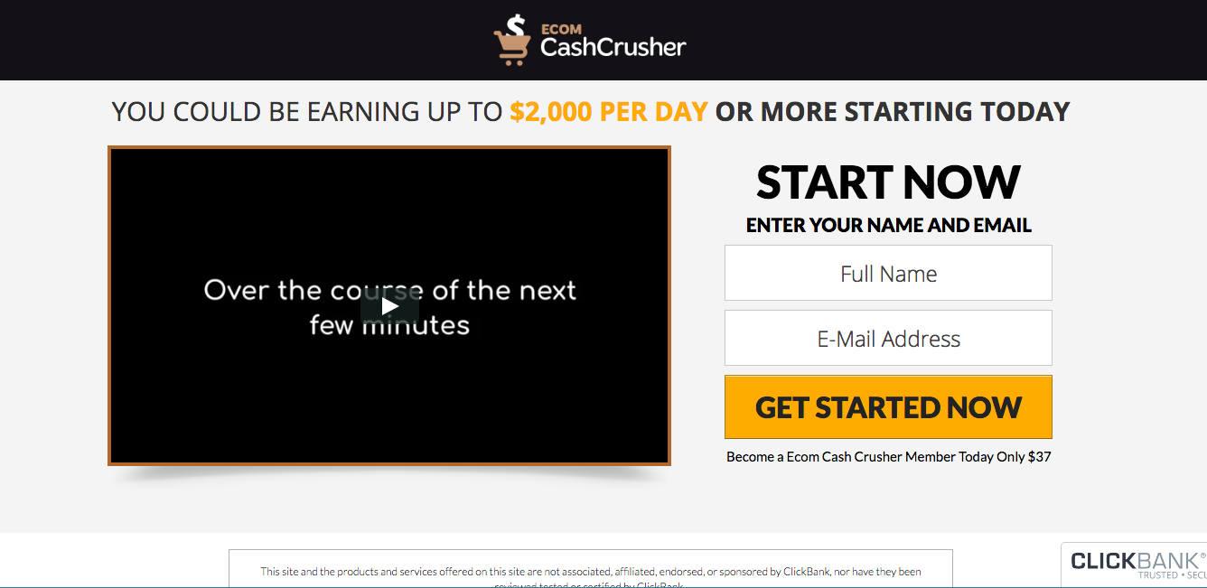 ecom cash crusher review salespage