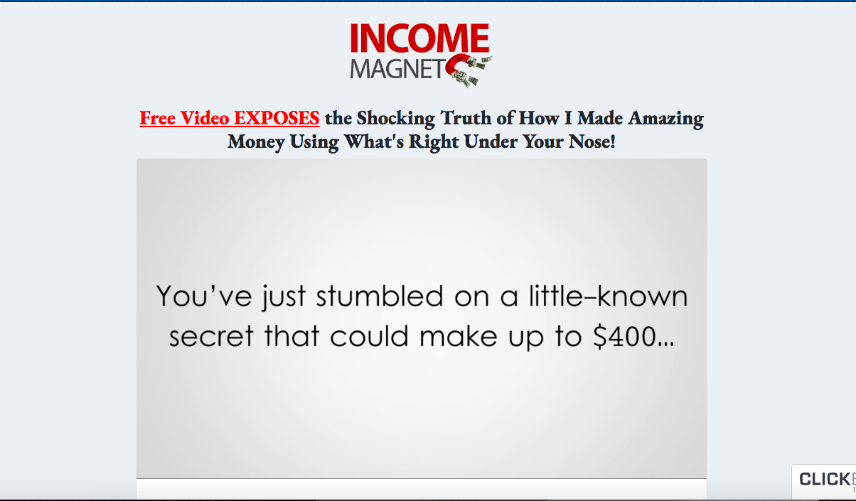 income magnet review salespage