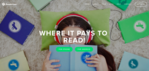 how to get paid to read books with readercoin review homepage