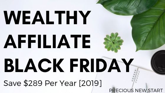 what is the wealthy affiliate black friday offer 2019