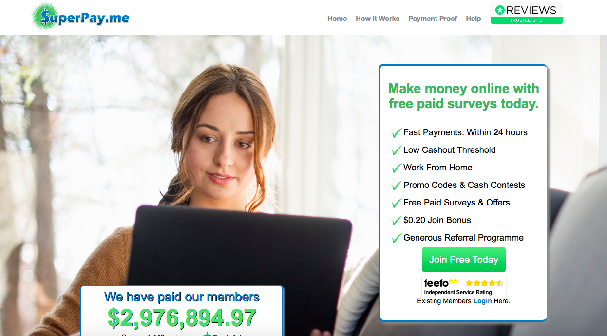 is superpay.me a scam - homepage