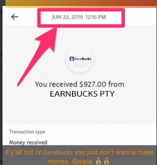 earnbucks.co review - fake payment proof