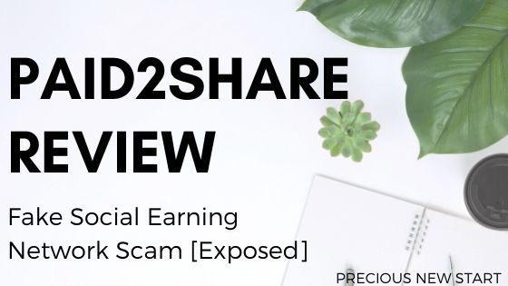 Paid2Share Review - Fake Social Earning Network Scam Exposed