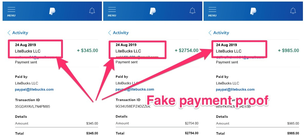 nextcash review fake payment proof