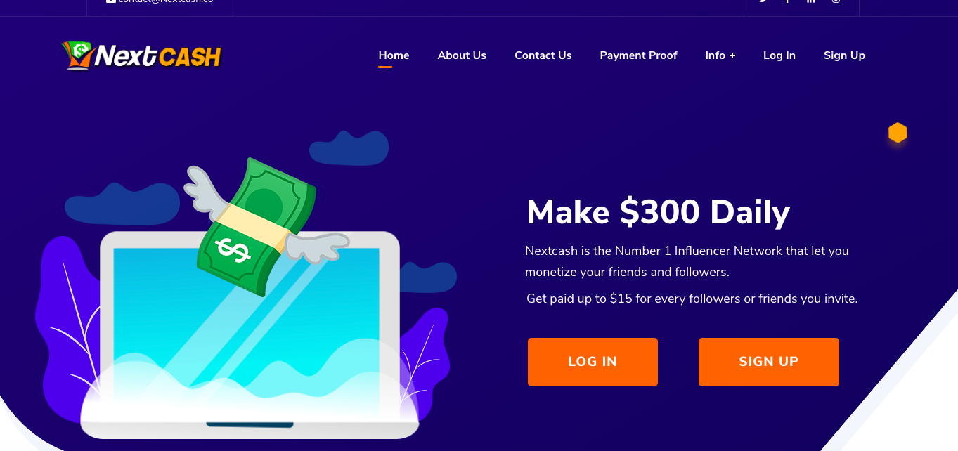 nextcash review homepage