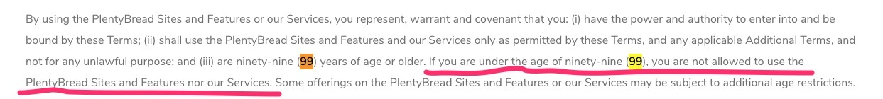 plentybread review terms